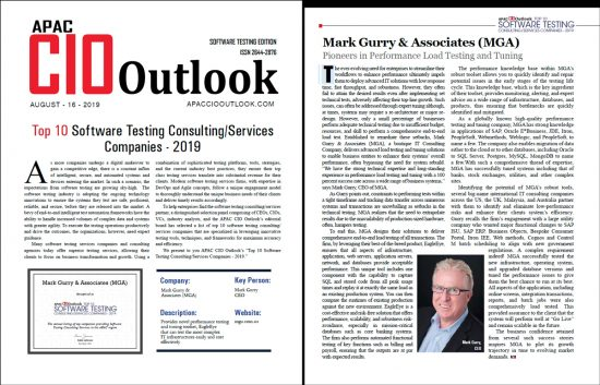 Mark Gurry featured in APAC CIO Outlook Magazine Aug 2018 - Oracle Special